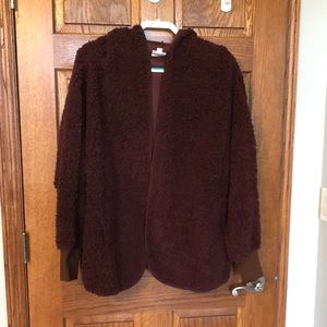 Lularoe Brown Teddy Bear Jacket NWOT